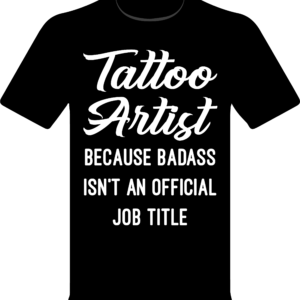 Tattoo Artist Black Shirt